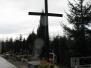 Cmentarz, krzyże i figury w parafii